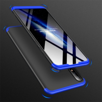 Capa Zenfone Max Pro M2 ZB631KL Cobertura Completa das Bordas Preto-Azul