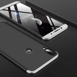 Capa Zenfone Max Pro M1 Cobertura Completa Preto-Prata