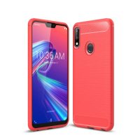 Capa Zenfone Max Pro M2 ZB631KL Fibra de Carbono Vermelho
