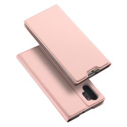 Capa Samsung Note 10+ Plus Flip Skin Pro Series Rosa Dourado