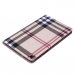 Capa Samsung Tab A 8.0 2019 T290/T295 Xadrez Marrom Claro