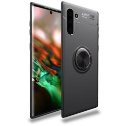Capa Galaxy Note 10 com Anel de Suporte Preto