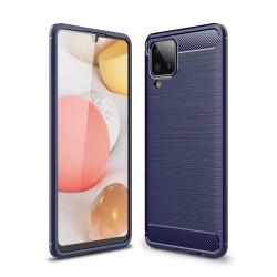 Capa Galaxy A12 TPU Fibra de Carbono Azul