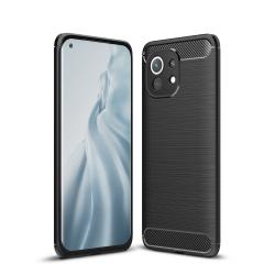 Capa Xiaomi Mi 11 TPU Fibra de Carbono Preto