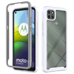 Capa Moto G9 Power TPU e Plástico Branco