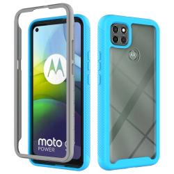 Capa Moto G9 Power TPU e Plástico Azul Claro