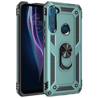 Capa Motorola One Fusion Plus com Anel de Suporte Verde