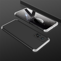Capinha de Celular Xiaomi Mi 10T / Mi 10T Pro em 3 Partes Preto-Prata