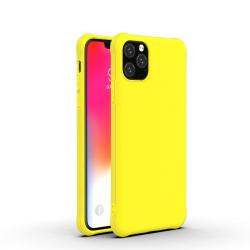 Capinha de Silicone para Iphone 11 Pro Max Amarelo