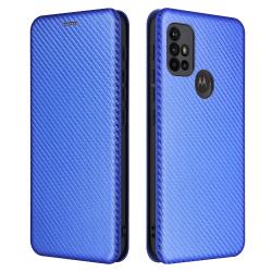 Capa Moto G10 Flip Azul