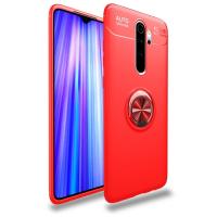 Capa Xiaomi Redmi Note 8 Pro com Anel de Suporte Vermelho
