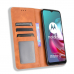 Capa Motorola Moto G10 Couro Flip Marrom