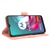 Capa Motorola Moto G30 Couro Flip Rosa