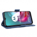 Capa Motorola Moto G20 de Couro Flip Azul