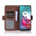 Capa Motorola Moto G30 Couro Flip Marrom