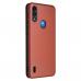 Capa Motorola Moto E7 Power Flip Marrom