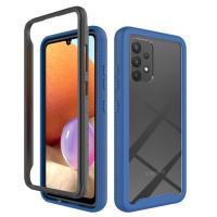 Capa Celular Samsung A32 4G Dupla Camada Azul