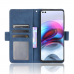 Capa Motorola Moto G100 Flip Couro Azul