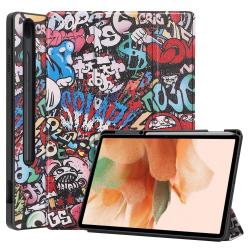Capa Samsung Tab S7 FE Smart e Pen Slot Grafiti