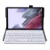 Capa e Teclado Bluetooth Samsung Tab A7 Lite T220 / T225 Rosê