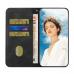 Capinha de Celular Samsung M12 Flip Couro Preto