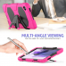 Capa Samsung Tab A7 Lite T220 / T225 com Suporte Rosa Escuro