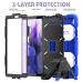 Capa Samsung Tab A7 Lite T220 / T225 com Suporte Rosa Azul