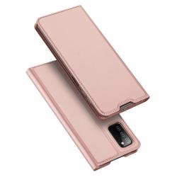Capinha Galaxy A03s de Couro Flip Skin Pro Series Rosê