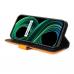 Capa para Celular Realme 8 5G Couro Duas Cores Laranja
