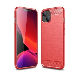 Capa iPhone 13 Mini TPU Fibra de Carbono Vermelho