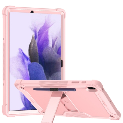 Capa Samsung Galaxy Tab S7 FE com Suporte Rosê