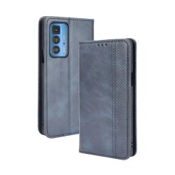 Capinha para Celular Motorola Edge 20 PRO de Couro Flip Azul