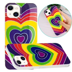 Capinha Celular iPhone 13 Mini TPU Corações