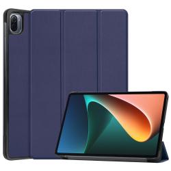 Capa Xiaomi Pad 5 Couro Flip 3 Dobras Azul