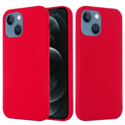 Capa MagSafe iPhone 13 Mini Silicone Vermelho
