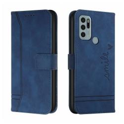 Capa Motorola Moto G60s de Couro Flip Azul