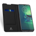 Capinha Motorola Moto G8 Plus Flip Couro Preto