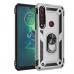Capa com Anel de Suporte para Motorola Moto G8 Plus Prata