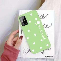 Capa Samsung Galaxy S20 TPU Corações Verde