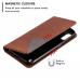 Capa Samsung A01 Couro Marrom