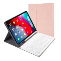 Capa Teclado Bluetooth para iPad Pro 11 2020 Rosa Dourado