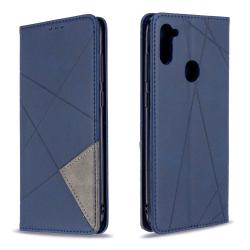 Capa de Couro Samsung Galaxy A11 Azul