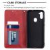 Capa de Couro Samsung Galaxy A11 Vermelho