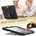 Capa iPad Pro 12.9 2020 Silicone e Plástico com Suporte Preto