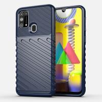 Capa Samsung Galaxy M21s TPU Thunderbolt Azul