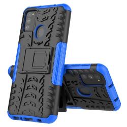 Capa TPU Textura Pneu para Samsung M21s Azul