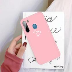 Capinha Samsung A11 Coração Rosa
