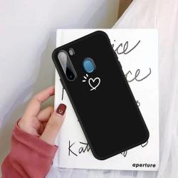 Capinha Samsung A11 Coração Preto
