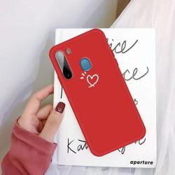 Capinha Samsung A11 Coração Vermelho