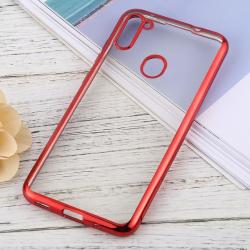Capa para Samsung A11 TPU Transparente Vermelho